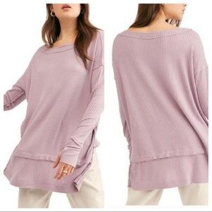 NWT Free People North Shore Thermal Prairie Lilac